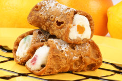 Mini sicilian cannoli Obrazy Royalty Free