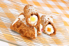Mini sicilian cannoli Royalty Free Stock Photography