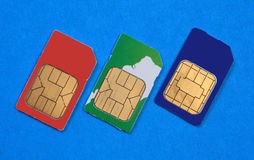 Mini SIM-cards Stock Image