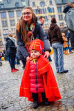 Mini Sinterklaas sur la rue d'Amsterdam Images libres de droits