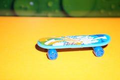 Mini skateboard. Mini skate toys brightly ride fun Royalty Free Stock Photography
