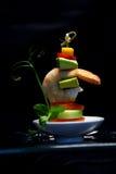 Mini skewer do camarão Fotos de Stock Royalty Free