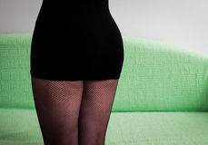 Mini skirt and fishnet Royalty Free Stock Photography