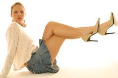 Mini skirt portraits Stock Photography