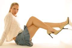Mini skirt portraits Stock Image