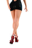 Mini Skirted Legs femenino atractivo Fotos de archivo