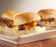 Mini slideres do hamburguer Fotografia de Stock