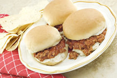 Mini Sloppy Joe Sandwiches Royalty Free Stock Photo