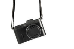 Mini SLR Black Camera Isolate Royalty Free Stock Images