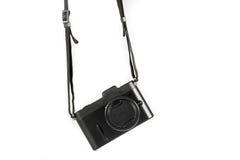Mini SLR Black Camera Isolate Royalty Free Stock Image