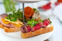 Mini- smörgåsar Royaltyfri Foto
