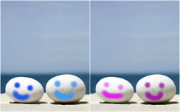 Mini Smileys Stock Image