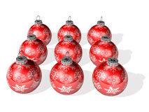 Mini snowmen's christmas card Royalty Free Stock Image