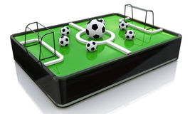 Mini football field. Mini soccer field at registration information related to sport and football Stock Photos