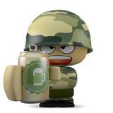 Mini soldat illustration stock