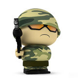 Mini soldier Stock Image