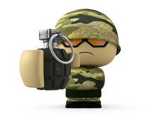 Mini soldier Stock Photo