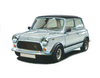 Mini 1100 Special Edition. Illustration of a Mini 1100 Special Edition vector illustration