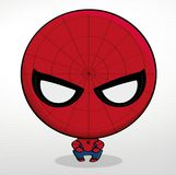 Mini Hombre Araña. It`s a very cute version of Spider-Man and his costume is really nice Stock Image