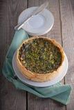 Mini Spinach Quiche Stock Photo
