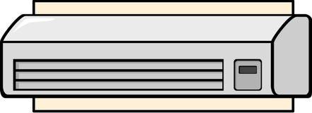 Mini split air conditioner. Illustration of an air conditioner mini split machine Stock Photos