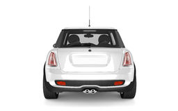 Mini- sportbil på vit bakgrund Royaltyfri Foto