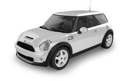 Mini- sportbil på vit bakgrund Royaltyfri Bild