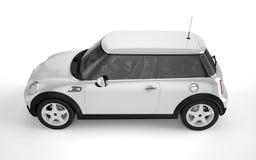 Mini- sportbil på vit bakgrund Royaltyfria Bilder
