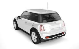 Mini- sportbil på vit bakgrund Arkivbilder