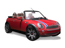 Mini Sports Convertible. Render of an isolated Mini Sports Convertible royalty free illustration