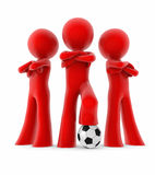 Mini squadra di calcio Immagine Stock
