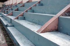 The mini stadium. Concrete benches empty in the mini stadium stock image
