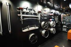 Mini stand de pièces de véhicule Images stock