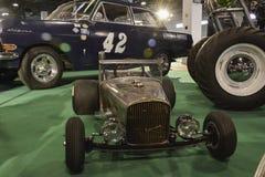 Mini stary zegaru samochód Zdjęcie Royalty Free