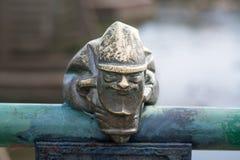 Mini statua Mikolajczyk Santa&-x27; s pomagier w Uzhgorod Zdjęcie Stock