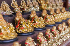 Mini statue Kasennen or Laughing Buddha Stock Photo