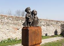 Free Mini-statue Of Countess Ilona Zrini And Count Imre Tekeli In Castle Palanok Photo, Mukachevo, Ukraine Royalty Free Stock Photo - 89780055