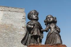 Mini-statues of castle Palanok, Mukachevo, Ukraine 2 Royalty Free Stock Photography