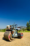 Mini steamroller. Parking on sand use in golf-course Royalty Free Stock Photos