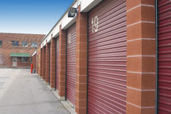 Mini Storage Unit Doors Stock Photos