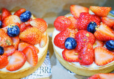 Mini strawberry pie Royalty Free Stock Photo