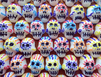 Mini Sugar Skull grouping Royalty Free Stock Photos