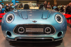 Mini Superleggera Vision in the CIAS. Mini Superleggera Vision in the Canadian International AutoShow, CIAS for short, is Canada's largest auto show and most Royalty Free Stock Photo