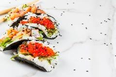Mini sushi tacos