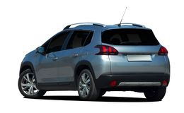 Mini- SUV baksidasikt, övergång, bil Arkivfoton