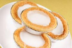 Mini Swedish almond tarts Royalty Free Stock Photography