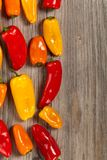 Mini Sweet Bell Peppers Royalty Free Stock Images