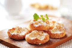 Mini sweet cheese pastries Royalty Free Stock Images