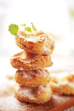 Mini sweet cheese pastries Stock Photography