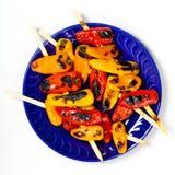 Mini Sweet Peppers asado a la parrilla Fotos de archivo libres de regalías
